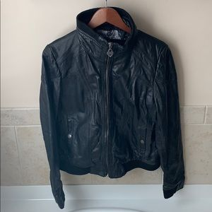 Women's Genuine Leather Guess Jacket
